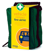 Compact vehcile first aid kit