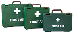 Essential empty first aid boxes